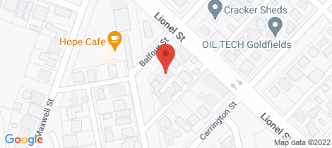 Location map for 2/53 Balfour Street South Kalgoorlie