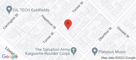 Location map for 31 Turner Street South Kalgoorlie