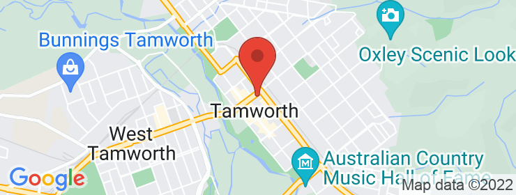 Map of Williamsburg Tamworth
