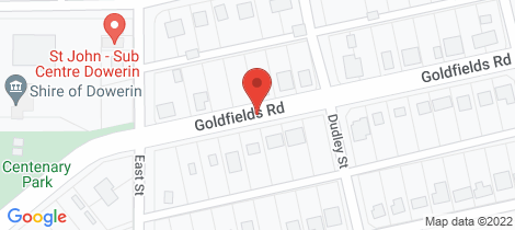 Location map for 222 Goldfields Road Dowerin