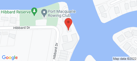 Location map for 4/68 Hibbard Drive Port Macquarie