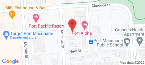 Location map for 7/12 Munster Street Port Macquarie