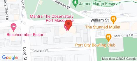 Location map for 204/40 William Street Port Macquarie