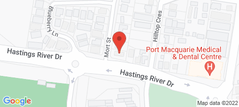 Location map for 4/2 Mort Street Port Macquarie