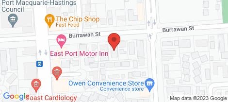 Location map for 3/46 Burrawan Street Port Macquarie