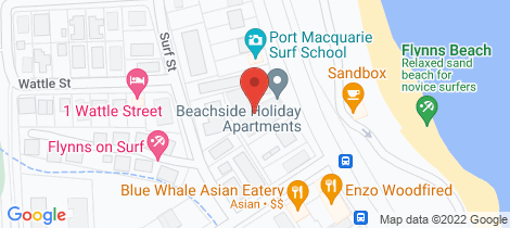 Location map for 26/48 Pacific Drive Port Macquarie