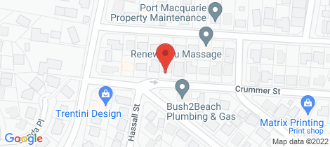 Location map for 9 Crummer Street Port Macquarie