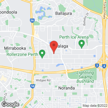 Map of O'Brien® Glass Perth at 36 Midas Rd, Malaga, WA 6090