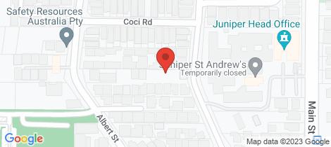 Location map for 10/15 Burwood Road Balcatta