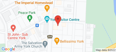 Location map for 72 Avon Terrace York