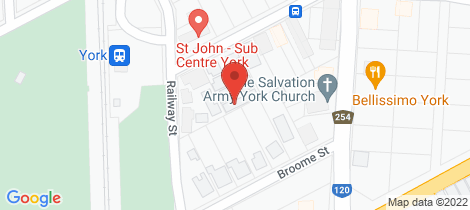 Location map for 4/9 Joaquina St York
