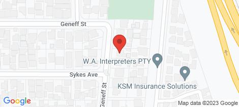 Location map for C/30 Geneff Street Innaloo