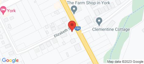 Location map for 1a Elizabeth St York
