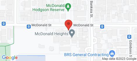 Location map for 12/208 Mcdonald Street Joondanna