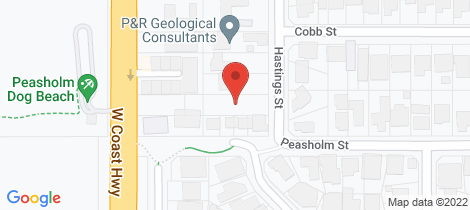 Location map for 147 Hastings Street Scarborough