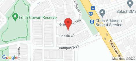 Location map for 8 Grasstree Way Churchlands