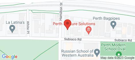 Location map for 12 Hamilton Street Subiaco