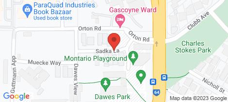 Location map for 2 Sadka Lane Shenton Park