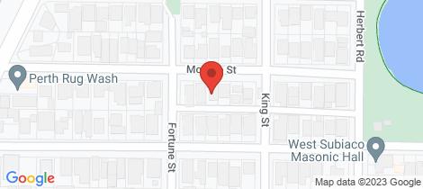 Location map for 19 Morgan Street Shenton Park