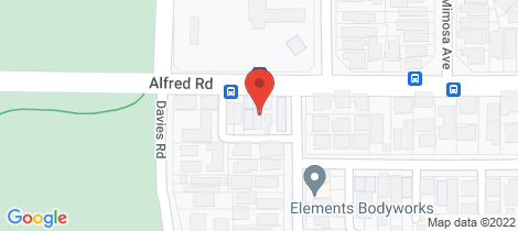 Location map for 106 Alfred Road Claremont