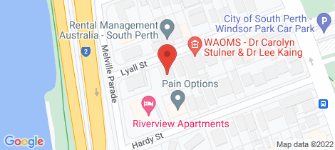 Location map for 3&5/6 Lyall Street South Perth