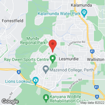 Map of O'Brien Plumbing Lesmurdie at 52 Waterloo Crescent, Lesmurdie, WA 6076