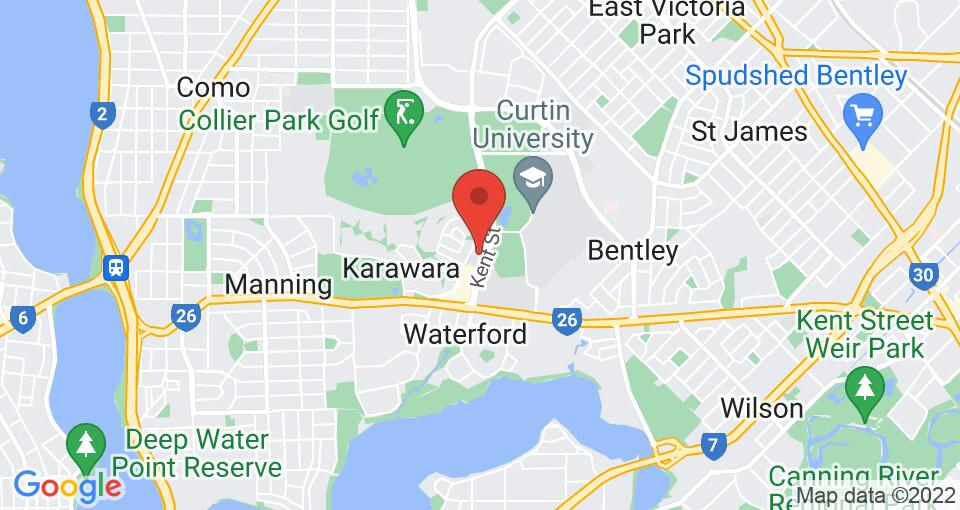 Google Map of UniLodge at Curtin University - Erica Underwood House