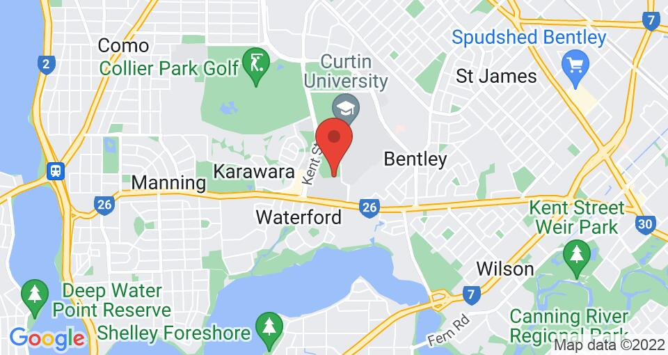 Google Map of UniLodge at Curtin University - Kurrajong Village
