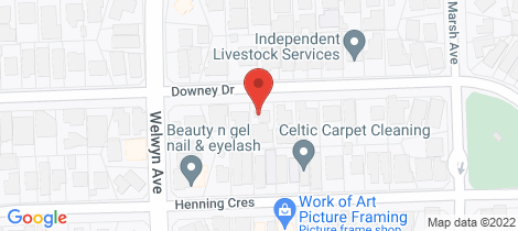Location map for 45 Downey Drive Manning