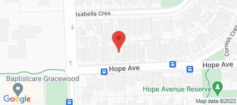 Location map for 1/8 Hope Avenue Manning