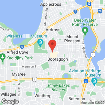 Map of STA Travel at 125 Riseley Street, Booragoon, WA 6154