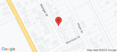 Location map for 8 Monger St Beverley