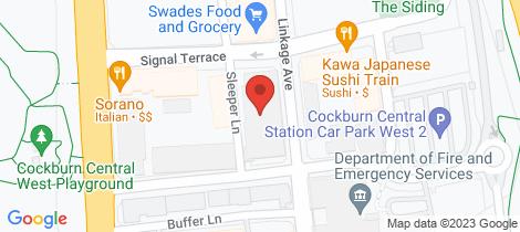 Location map for 37/9 Linkage Avenue Cockburn Central
