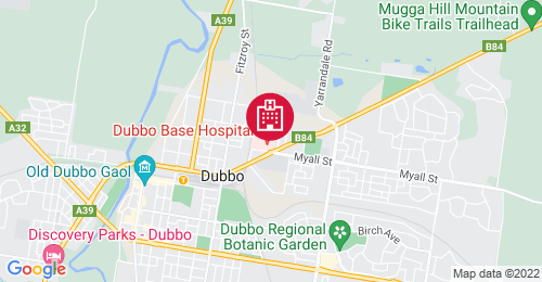 Location of Dubbo Hospital Redevelopment - Stages 3 & 4