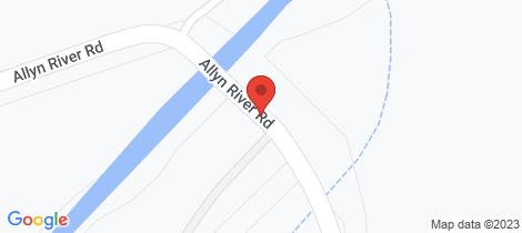 Location map for 2211 Allyn River Road, Eccleston Via Gresford