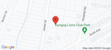 Location map for 15 Jones Street Dungog