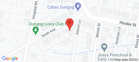 Location map for 4 Scott Avenue Dungog