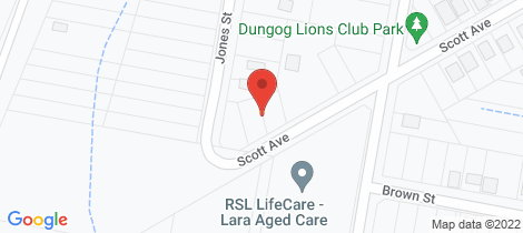Location map for 29 Scott Avenue Dungog