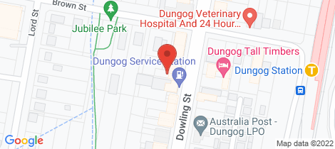Location map for 172 Dowling Street Dungog
