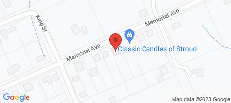 Location map for 36 Memorial Avenue Stroud