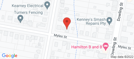 Location map for 43 Myles Street Dungog