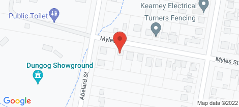 Location map for 56 Myles Street Dungog