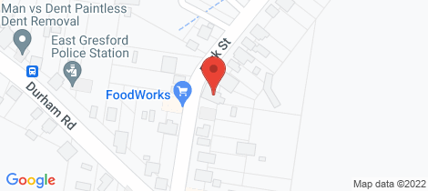 Location map for 66 Park Street East Gresford