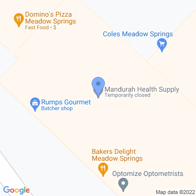 Mandurah Health Supply Shop 4, Meadow Springs Shopping Centre , MEADOW SPRINGS, WA 6210, AU