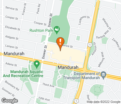 Map of Shop SP064, Mandurah Forum, 330 Pinjarra Road in Mandurah