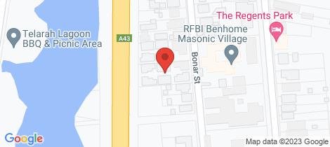 Location map for 2/42-44 Bonar Street Maitland