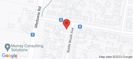 Location map for 2 BOTTLE BRUSH AVENUE Medowie