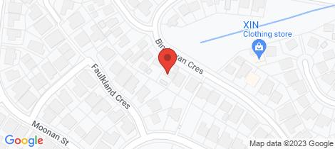 Location map for 48 Bindowan Crescent Maryland