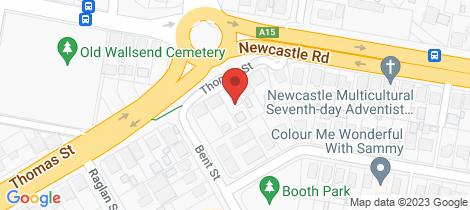 Location map for 87 Thomas Street Wallsend