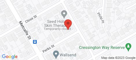 Location map for 4/50 Perks Street Wallsend